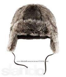 Тёплая зимняя супер шапочка H&M на 2-4 мес. внутри флис