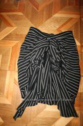 шикарная юбка с бантом в полоску moschino