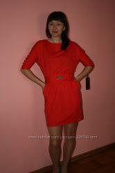 Акция платье красный цвет тренд этого года Турция, нарядные Paparazz