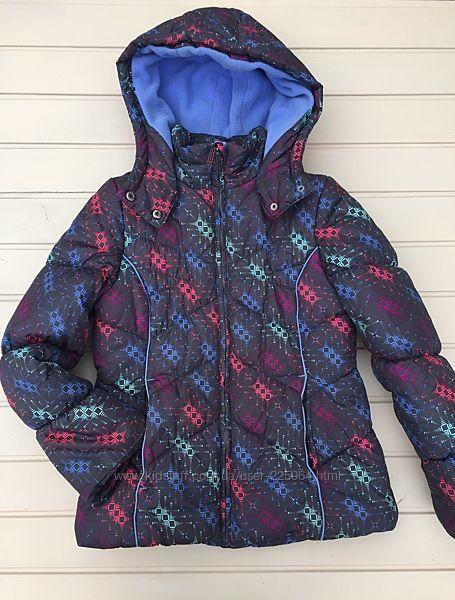 Куртка на девочку на флисе 10-12 лет еврозима