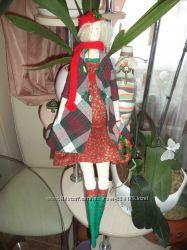 Рождественская кукла тильда