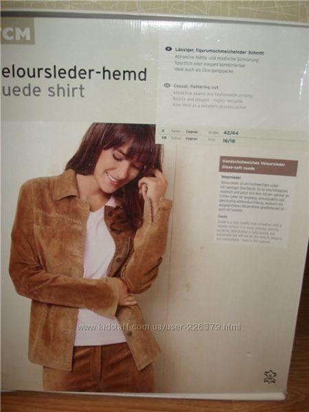 куртка-рубашка,  замша-велюр, ТСМ,  Германия