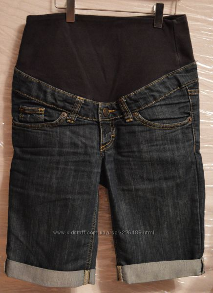 Шорты джинсовые для беременных