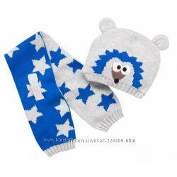 набор из шапки и шарфа для мальчика