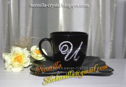Чашки со стразами Swarovski