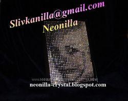 Портреты на заказ из кристаллов Сваровски Swarovski