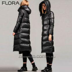 Длиный женский пуховик пальто модная модель супер цена