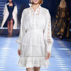 Кружевные платья с рукавами фонариками в стиле Zimmerman