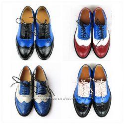 Туфли оксфорды, модные и удобные туфли на шнурках, тренд 2014 года