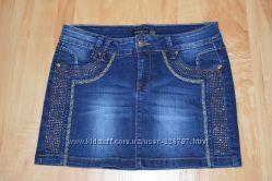 Джинсовая мини юбочка