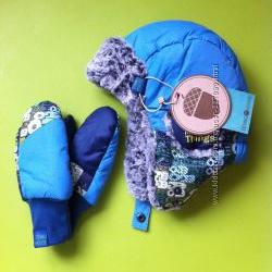 Комплект зимний шапка варежки для мальчика