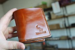 Кожаное портмоне-раскладушка с монетницей TRAVELBOOK