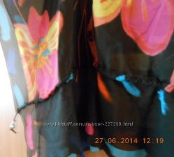 Туника панчо яркая и легкая ткань