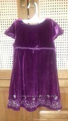 Велюровое платье Mothercare р. 104
