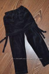 велюровые лосины с юбкой, размер 86