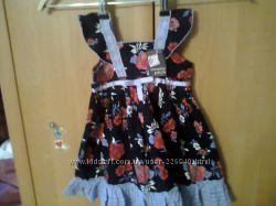 Нарядное из микровельвета платье на 3-6мес можно одевать на регланчик 80грн