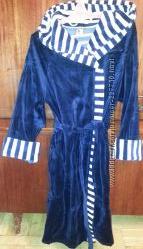 халаты женские велюровые короткие на запах с капюшоном произв Польша