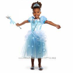 Светящийся костюм для девочки принцесса Золушка, Дисней