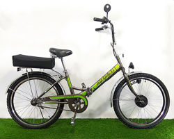Складной электровелосипед Azimut 24 колеса 350W 36v пробег - 65км