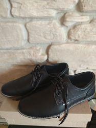 Кожаные фирменные туфли BOSSER