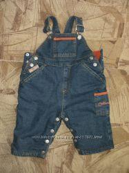 Утепленный джинсовый комбинезон 6-9 мес.