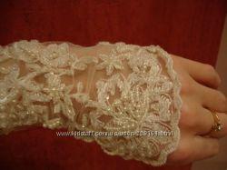 Эксклюзивные свадебные перчатки очень дёшево