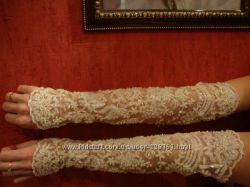 Эксклюзивные свадебные перчатки, очень шикарно смотрятся, плюс  подарок