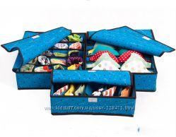 Набор из трех органайзеров для хранения нижнего белья