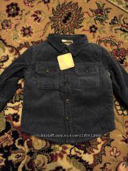 Новая утепленная по туловищу искусст. мехом рубашка-куртка 6-12 мес