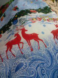 ткань рогожка для скатерти новый год