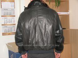 куртка кожаная --пилот на меху