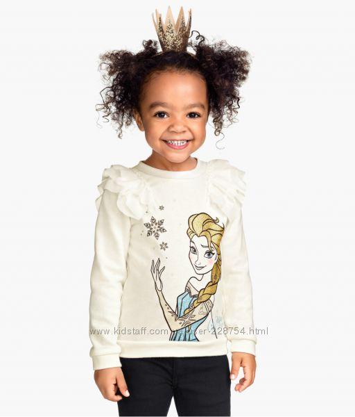 новую нарядную фирменную кофту-блузку H&M Frozen из Германии р122-128