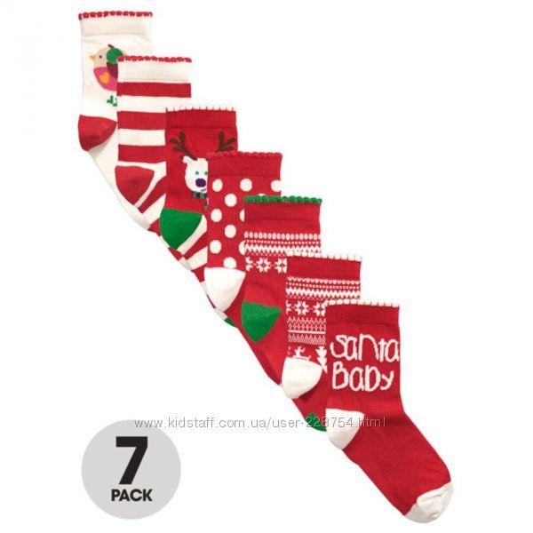 Дешево новый фирменный набор носков 7штук Lady Bird из Англии р18-24
