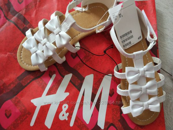 Новые стильные фирменные босоножки  H&M из Германии р. 30