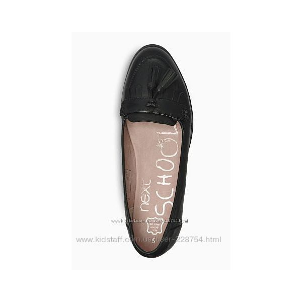 Кожаные стильные фирменные туфли лоферы Next в идеале.