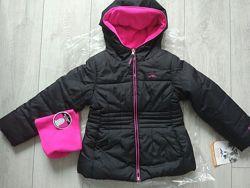 Новую утепленную деми куртку с шарфом Pacific TrailColumbia р. 5-6 и 6-7