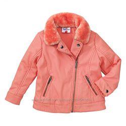 новую деми куртку кожзам сьемным мехом Topolino из Германии р128
