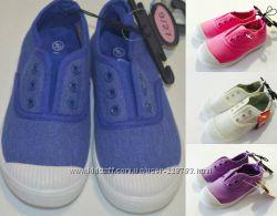 Модные мокасины-кеды без шнурков Primark - р. 23-30. Разные расцветки.