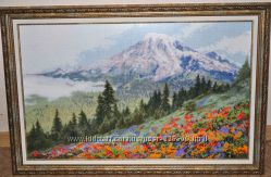 Вышивка картина Альпийский луг