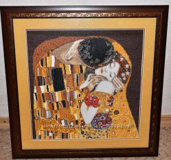 Вышивка картина Поцелуй Климт