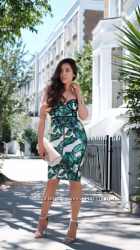 Платье футляр Rare London листья пальма