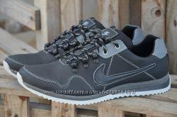 Мужские кожаные кроссовки Nike качество