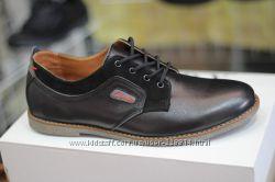 Мужские кожаные туфли Clarks черный, коричневый