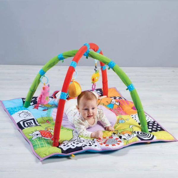 Развивающий музыкальный коврик с дугами - В кругу друзей 90см, Taf Toys, 1