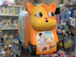 Детский чемодан-каталка для путешествий - Котик турист баттат