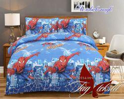 Комплект в детскую кровать, подростковый, человек паук, Spider man , 100 б