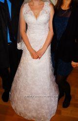 Продам очень красивое свадебное платье, заказывали в салоне, по каталогу, б