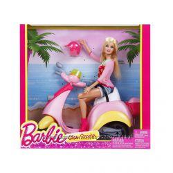 Набор кукла Барби блондинка на скутере Barbie - Glam Scooter with Barbie