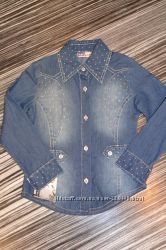 Джинсовые рубашечки для девочек