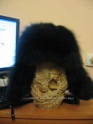 Кожанная шапка ушанка в новом состоянии